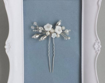 Floral Hair Pin,Flower Hairpiece,Wedding Flower, Floral Branch, Bridesmaids gift, Barn Wedding