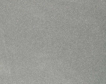 """Sparkle Glitter Vinyl Upholstery Fabric - Sold By The Yard - 54""""- Silver"""