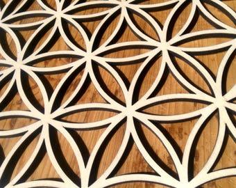 Handmade bamboo flower of l life mandala 40cm