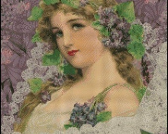 Young Maiden cross stitch pattern No.119