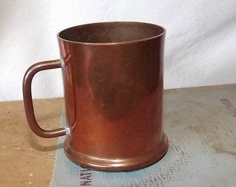 Miniature Copper Tankard Vintage