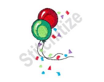 Balloons - Machine Embroidery Design, Confetti, Party