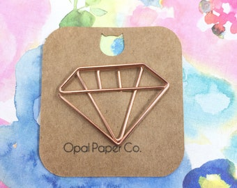 Rose Gold Diamond Paper Clip