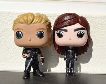 The Mortal Instruments Clary Fray and Jace Wayland customised funko pop
