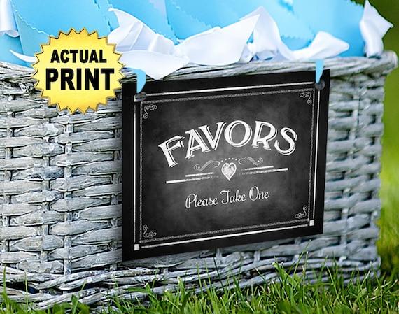 Favors Sign | PRINTED Wedding Sign, Wedding Favors Sign, Bridal Shower Favors Sign, Baby Shower Favors Signs, Chalkboard Wedding Signage