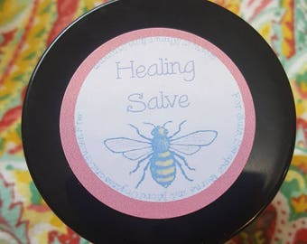 Healing Salve- Great for cuts, scrapes, burns, bug bites, dry skin, diaper rash and more!