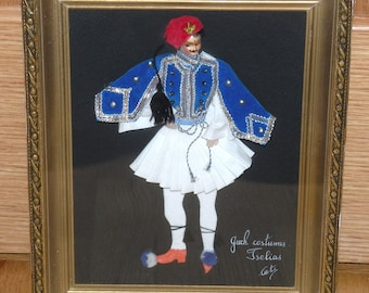 Greek Costumes Shadow Box Picture