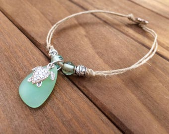 glass hemp jewelry sea secrets anklet by wrap
