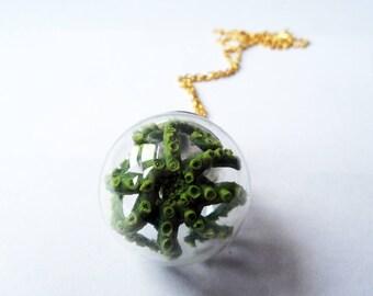 Kraken in a Globe Necklace