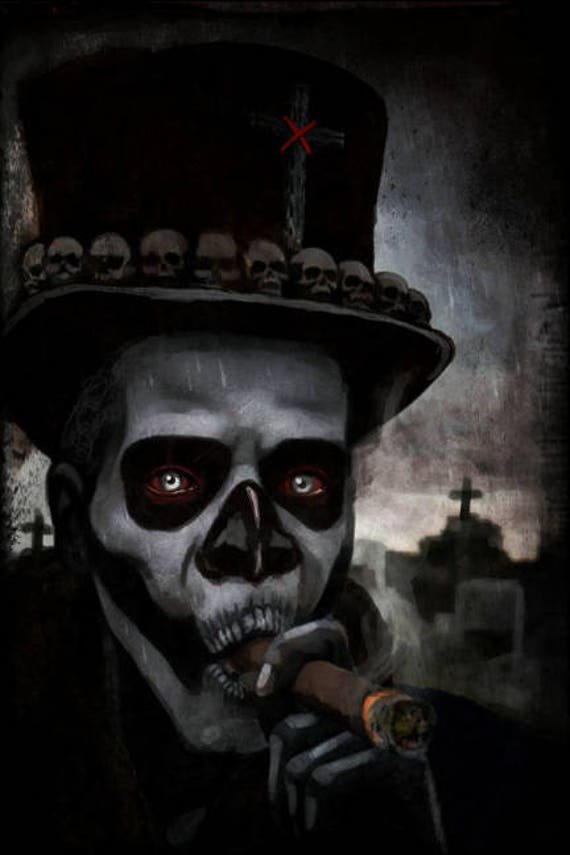 Voodoo Papa Legba Stretched canvas print