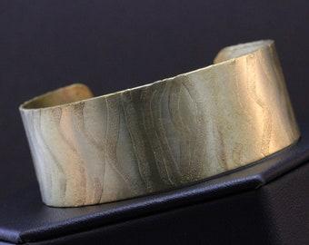Etched Brass Cuff Bracelet (031818-001)