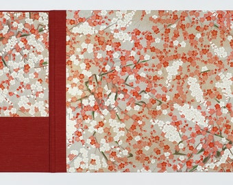 Desk Blotter with Privacy Flap - Red Blossom