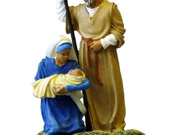 Hand Painted Nativity Family Metal Miniatures Vignette - NAT01P