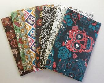 Skull envelopes, gothic stationery, pen pal, handmade envelopes, love notes, snail mail, patterned, set of 8