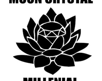 Moon Crystal Millenial Vinyl Decal