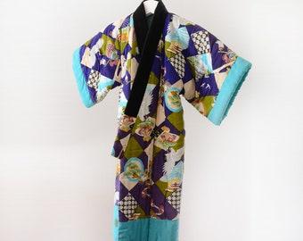 child kimono vintage Japanese 50s Hanten Jacket Kids Antique 綿入れ半纏 ジャパンヴィンテージ アンティーク着物 50年代