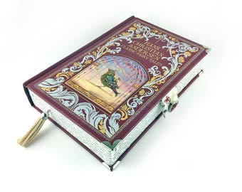 "Hans Christian Anderson, Prom clutch, Fairy Tales Jewellery Box, Fairy Tales Clutch Bag, ""In olden times, when wishing still helped..."""