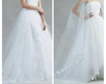Long wedding dress made to order.