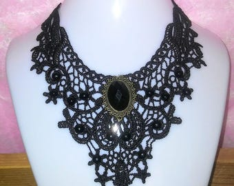 Lace Victorian Style Choker Necklace