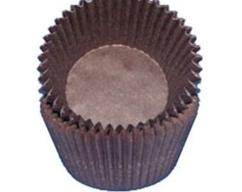 Brown CK Glassine Baking Cups. 50 Cupcake Liners