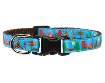 "Cat Collar - ""The Weekender"" - Camping Outdoor Print"