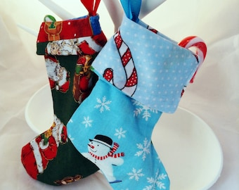 Mini christmas stockings, christmas stockings, christmas gifts for family and friends, mini stocking christmas decor