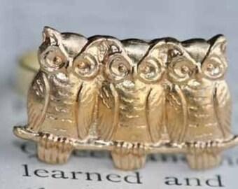 Owl Trio Ring