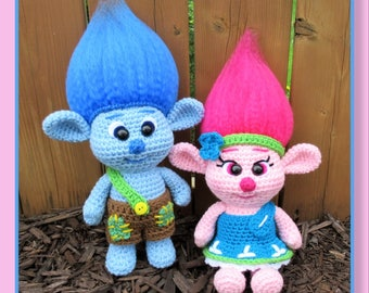 Baby Trolls Amigurumi (PDF file only, this is not the finished doll)