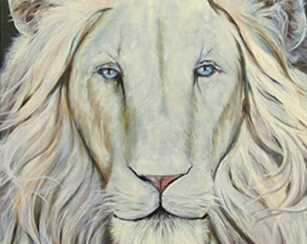 Lion of Judah- Print on Canvas/Unstretched