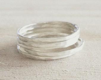 Thin stacking rings, skinny stacking rings, skinny ring, sterling silver stacker, skinny stacker, stacking rings, silver stacking ring
