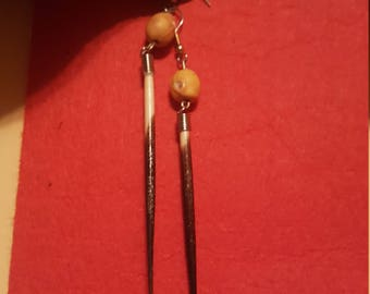 African porcupine quills earrings