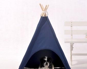 Navy Blue dog teepee,pet teepee,dog tent