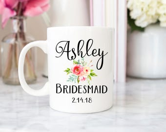 Bridesmaid mug, maid of honor mug, matron of honour mug, wedding mug, bride mug, bridesmaid gift, bridesmaid custom mug