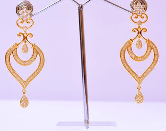 Bollywood Style Women Fashion Indian Earrings Gold Plated Designer Collection