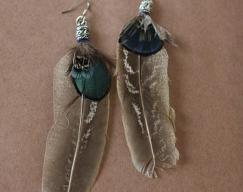 FEATHER Earrings -- Bird, Native American, Southwest - Style 12