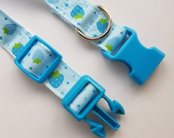 Berry Blue Buckle Adjustable Pup Collar