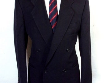 euc Mani Giorgio Armani Navy 100% Wool Double Breasted Blazer Sportcoat sz 41 R