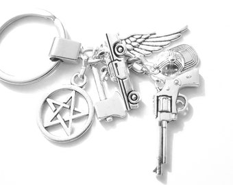 Key ring inspired by the tv show SUPERNATURAL