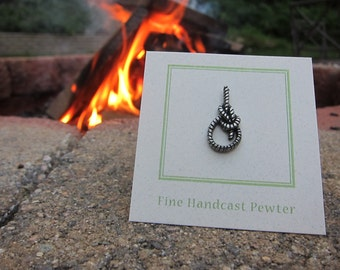 Bowline Knot Lapel Pin - CC521- Rope Knot Pins