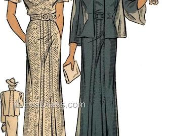 1936 Dress & Jacket EvaDress Pattern