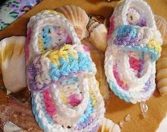 crochet baby flips flops size newborn to 12 months