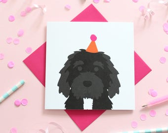Cockapoo Birthday Card