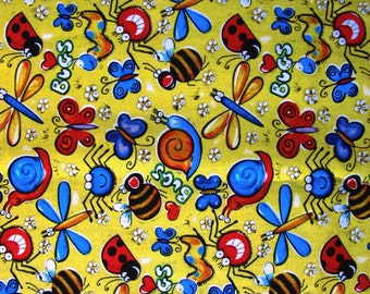 "1/2 yard of 100% cotton ""Butterfly - insects"" fabric"