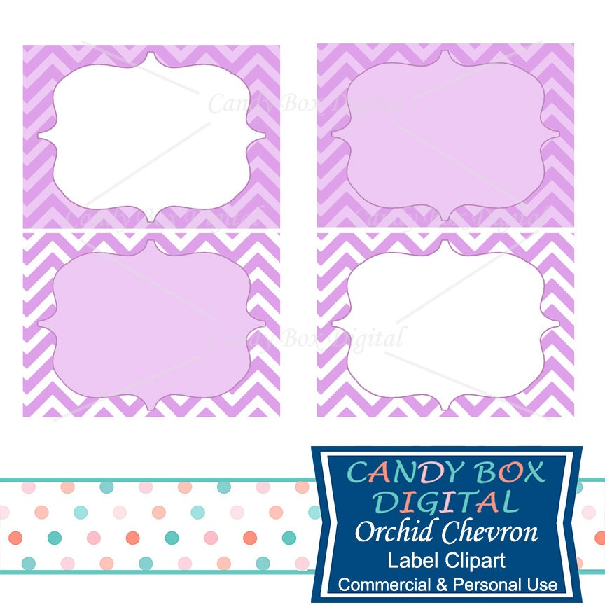 Orchid Chevron Label Clipart Purple Frame Label Clip Art