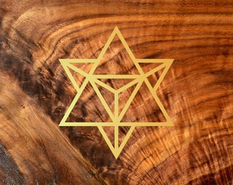 Star Tetrahedron Vinyl Decal - Sacred Geometry Sticker Decal Vinyl Cutout by LaserTrees - Item Number LT50002