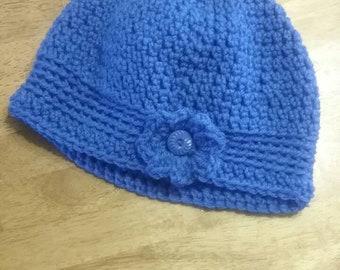 Pretty Cornflower Blue Womens Flapper Hat