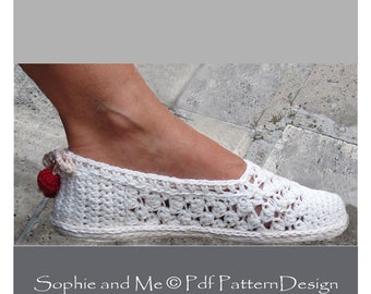 Lace Slippers/Espadrilles - Crochet Pattern - Instant Download Pdf