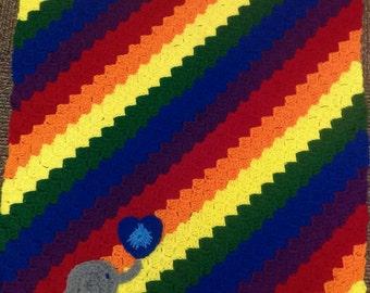Baby Elephant Walk Crochet Blanket