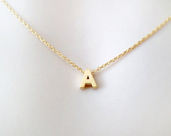 Personal, Capital, Letter, Initial, Gold, Silver, Necklace, Upper case, Letter, Necklace, Lovers, Friends, Mom, Sister, Gift