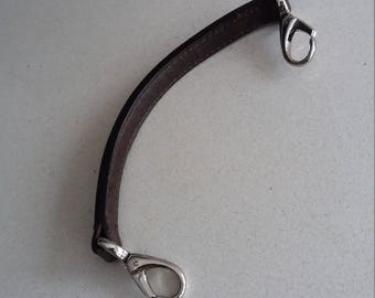 Leather handle for handbag